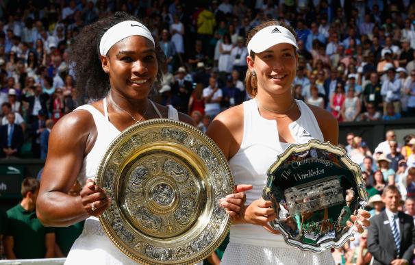 Garbiñe no pudo con Serena Williams.