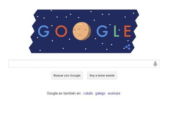 Google celebra la llegada de 'New Horizons' a Plutón con un doodle