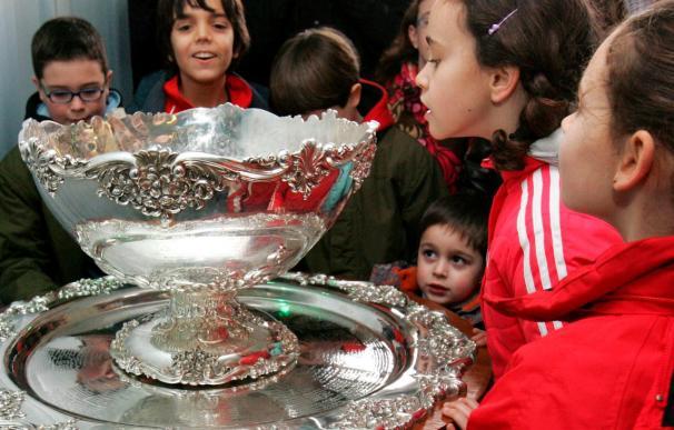 """La """"Ensaladera"""" de la Copa Davis estará expuesta en el IRJ hasta el jueves"""
