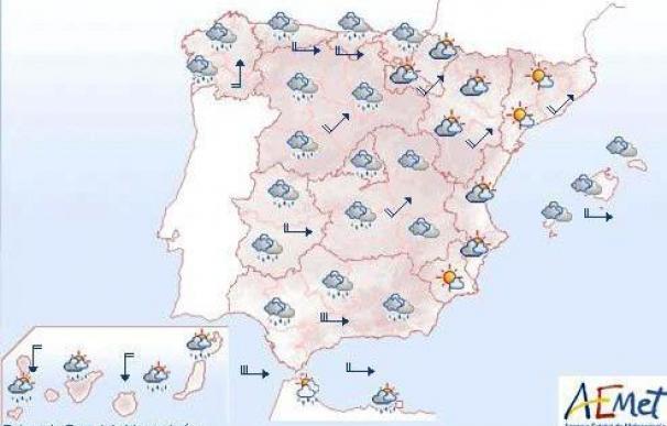 Mañana, rachas de viento de 120 km/h en Cantábrico, Navarra y Castilla y León