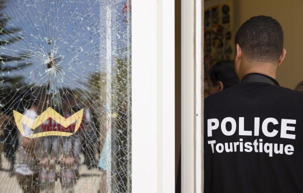 Impacto de bala en uno de los hoteles de Sousse, Túnez