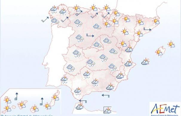 Fuertes precipitaciones en Galicia y viento huracanado en el Cantábrico y Castilla y León