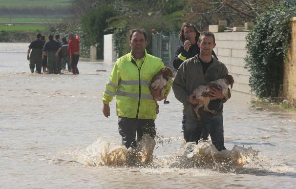 Unas 250 viviendas han sido desalojadas en Córdoba a causa de la lluvia