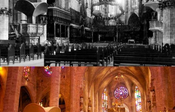 La Catedral de Mallorca recupera temporalmente un tornavoz creado por Gaudí