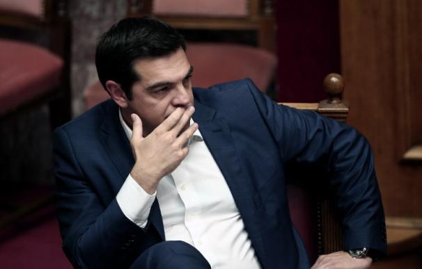 Alexis Tsipras, primer ministro griego, en el parlamento heleno