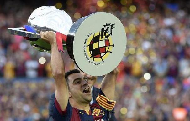 Despedida de Liga de Xavi en el Camp Nou