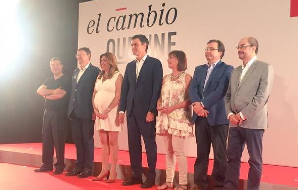 Pedro Sánchez y los presidentes autonómicos del PSOE
