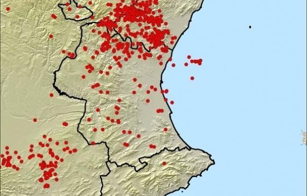 Más de 1.050 rayos caen sobre la Comunitat Valenciana