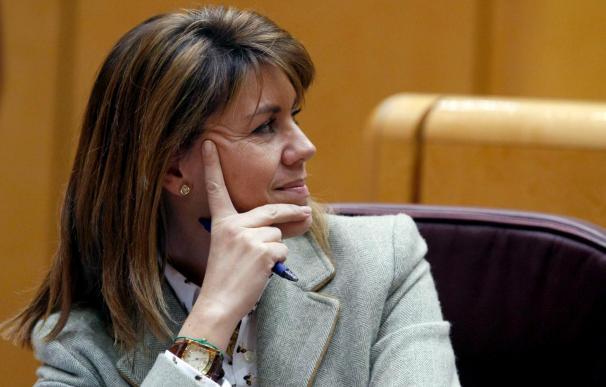 Cospedal recuerda a los sindicatos que los españoles priman su derecho al trabajo