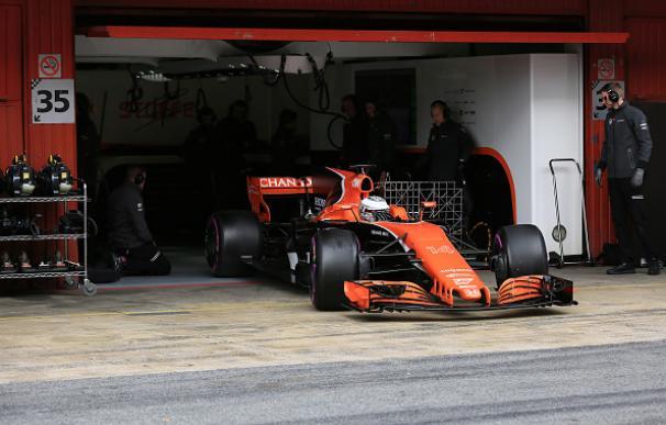 Alonso, durante los test de pretemporada en Montmeló