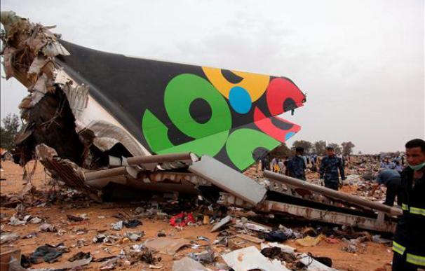 Avión destrozado