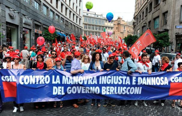 Huelga desigual en Italia contra el plan anticrisis del Gobierno de Berlusconi