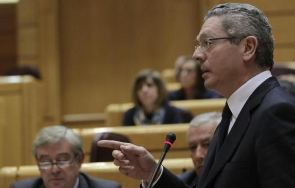 El ministro de Justicia, Alberto Ruiz Gallardón, en foto de archivo.