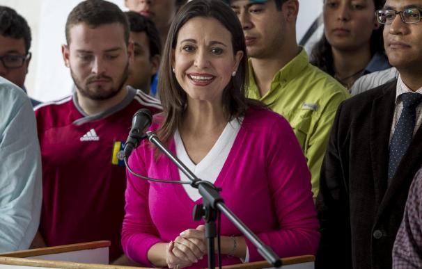 Machado apuesta por una transición democrática en Venezuela tras ser imputada