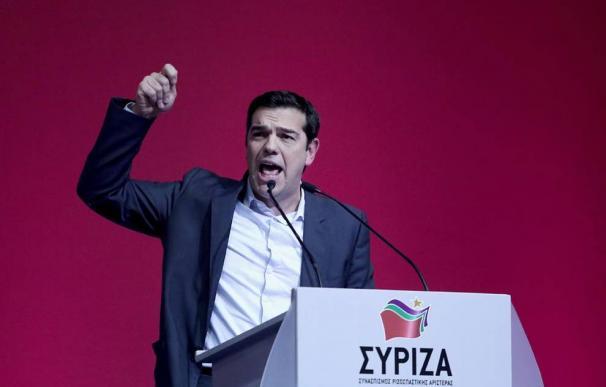 Alexis Tsipras, líder de Syriza, en un acto de la campaña de las elecciones griegas.