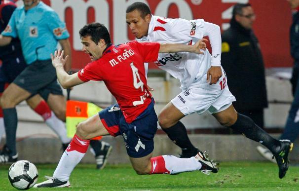1-0. Luis Fabiano acerca al Sevilla a Liga de Campeones
