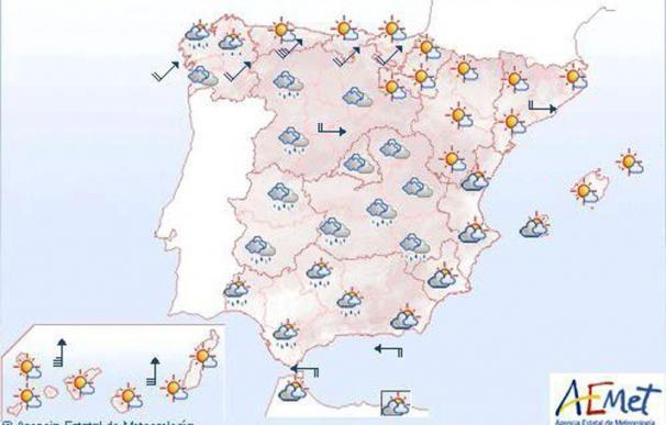 Fuertes vientos en Canarias y lluvias débiles en el noroeste y en Andalucía