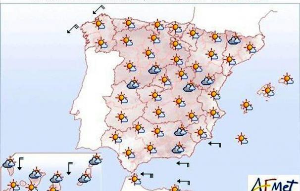 Mañana, temperaturas altas en el cuadrante suroeste, Salamanca y Orense