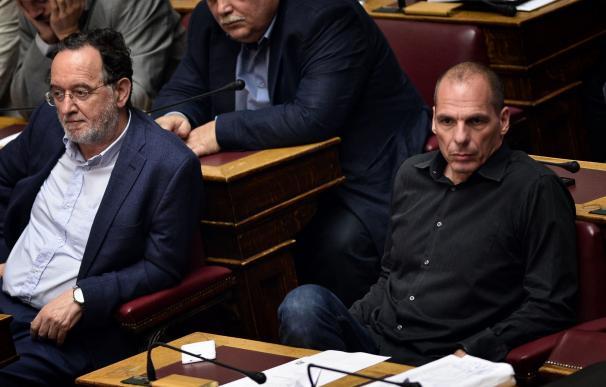 Yanis Varoufakis en el parlamento griego