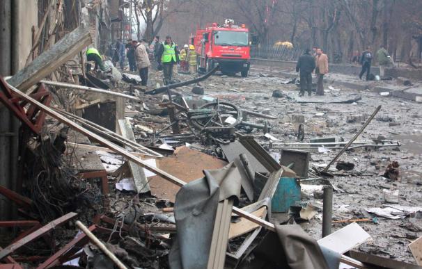 Trece muertos y más de 30 heridos en un doble ataque suicida en centro de Kabul