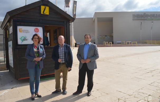 Diputación Provincial y Ayuntamiento de Teruel abren el punto de información de Dinópolis