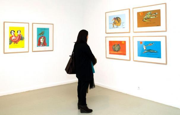 Carlos Saura muestra por primera vez sus dibujos en la Fundación de su hermano
