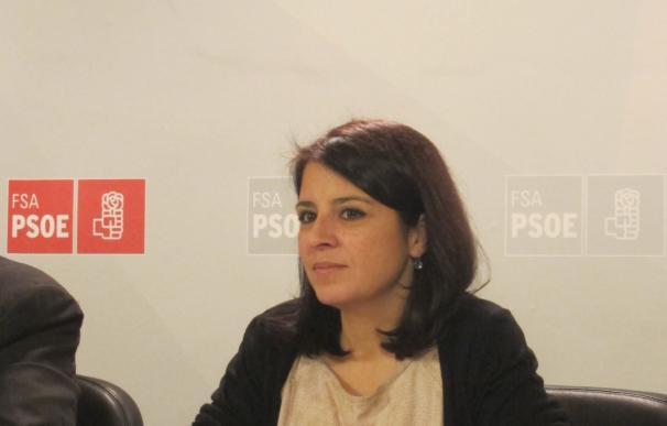 """Adriana Lastra afirma que """"el PP es el partido que ha rebasado todas las líneas rojas"""""""