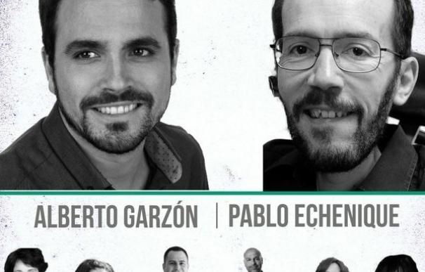 Garzón y Echenique participan este martes en Ciudad Real en el acto alternativo del Día de la Región