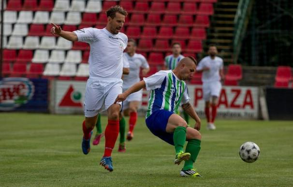 La selección de Padania frente Romania, durante la primera Copa del Mundo organizada por la CONIFA