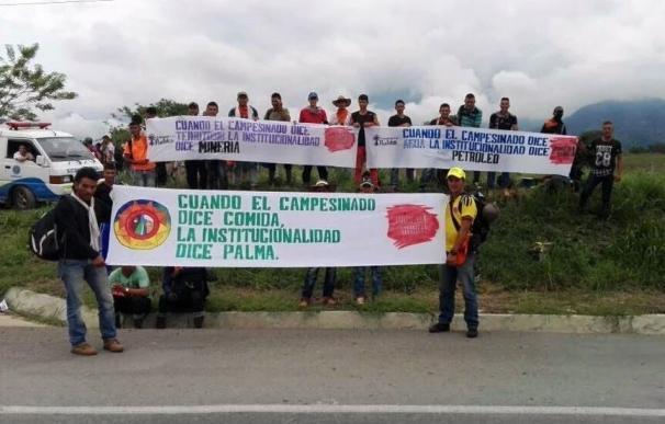 Un muerto y dos heridos durante una movilización campesina en Colombia
