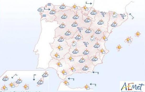 Mañana, temperaturas altas en el suroeste peninsular y despejado en el resto de España