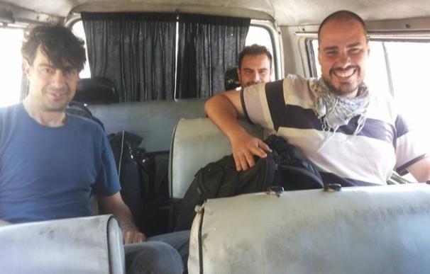 Liberan a los tres periodistas españoles secuestrados en Siria