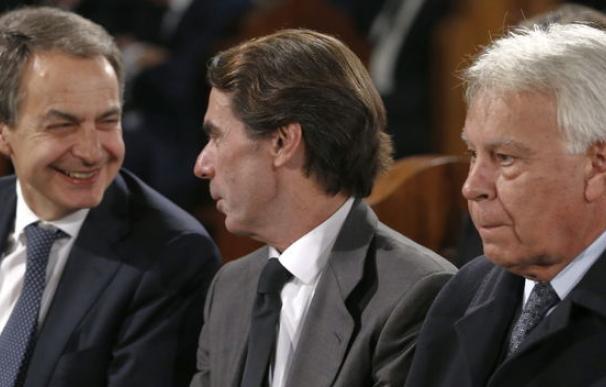 Zapatero, Aznar y González, los tres expresidentes del Gobierno