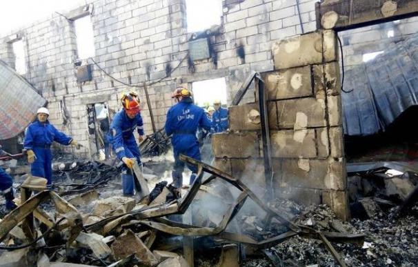 Al menos diecisiete muertos en incendio en refugio de ancianos en Ucrania