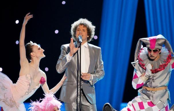 """Jimmy Jump se cuela en el """"Algo pequeñito"""" de Daniel Diges en Eurovisión"""