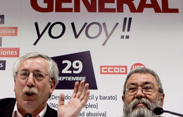 """CCOO y UGT muestran su rechazo rotundo a la """"contrarreforma"""" del Gobierno"""