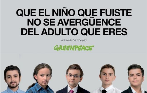 Que el niño que fuiste no se avergüence del adulto que eres, la nueva campaña de Greenpeace