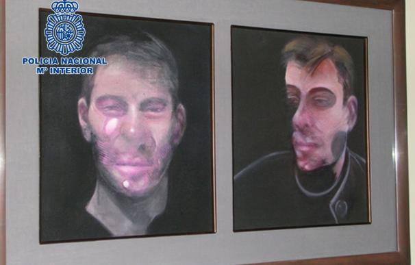 La Policía Nacional detiene a los presuntos autores del robo de cinco cuadros de Bacon que aún no han sido recuperados