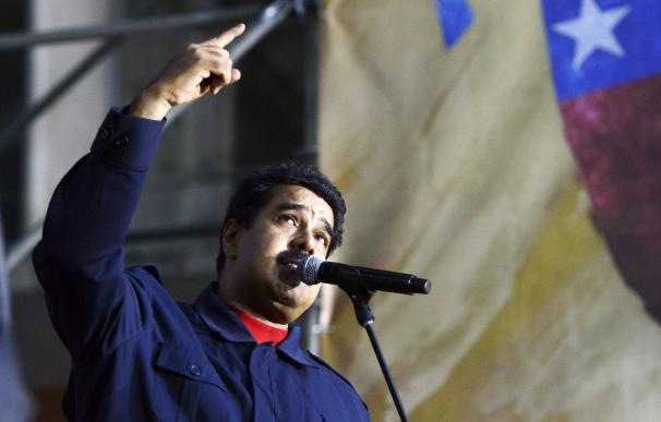 Venezuelan President Nicolas Maduro speaks during