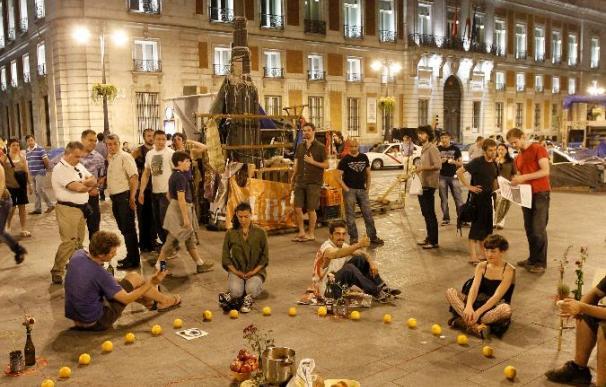 Normalidad en la Puerta del Sol a pesar de los rumores de desalojo