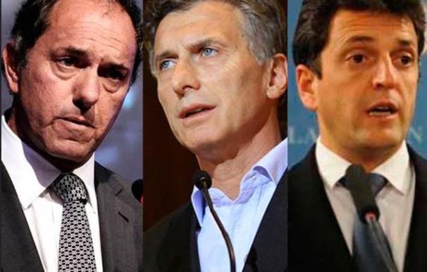 Daniel Scioli, Mauricio Macri y Sergio Massa: tres hombres por un solo destino, la presidencia de Argentina