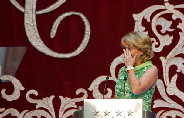 Aguirre inicia emocionada su tercer mandato en la Comunidad de Madrid