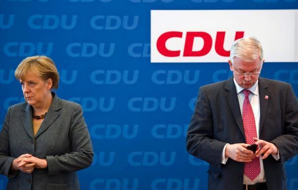 Merkel ve pocas posibilidades a una coalición de CDU y Verdes en Renania del Norte