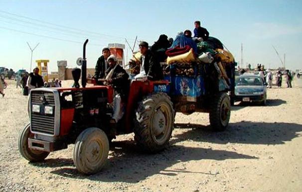 Algunos habitantes de Marjah han conseguido escapar a Lashkar Gah, capital de la provincia afgana de Helmand