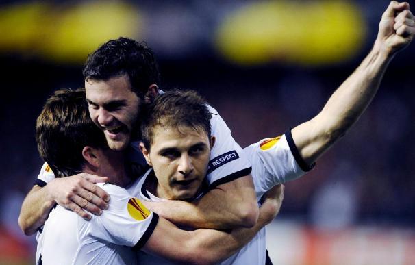 El Atlético y el Valencia sobreviven en la Liga Europa