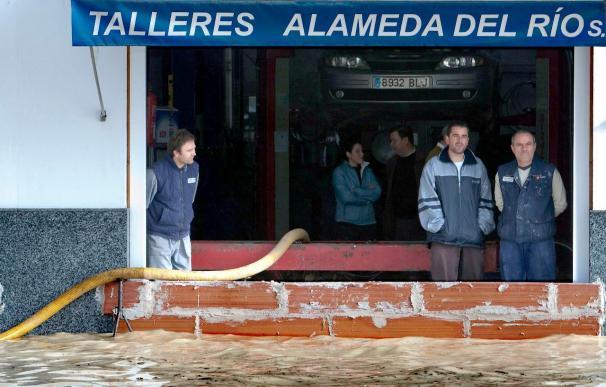 Desalojan 22 viviendas por la crecida del Guadalquivir en Tocina (Sevilla)