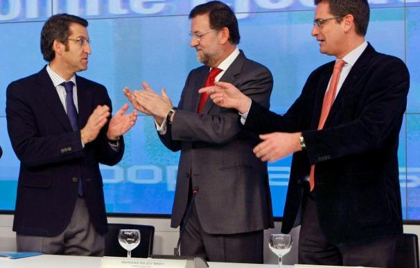 Rajoy, Feijóo y Basagoiti celebrarán el domingo el año victoria PP en Galicia