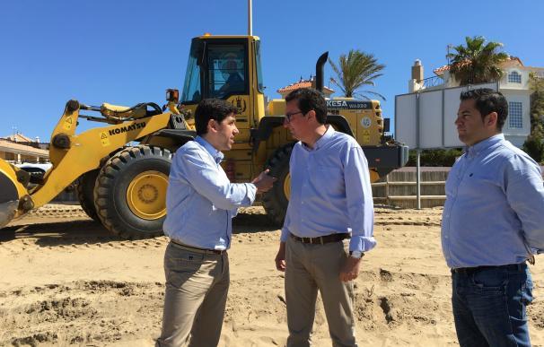 Arrancan las obras de emergencia en el litoral para repararlo de cara al verano tras los daños del temporal