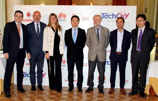 Vodafone y Huawei llevan la red 4G+ de 600Mbps a Sol, Callao y Opera con el proyecto Madrid Tech City