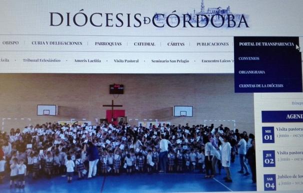 La Diócesis cordobesa destaca que cuenta con 'Portal de Transparencia' desde hace más de dos años